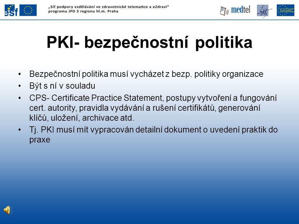 PKI- bezpečnostní politika