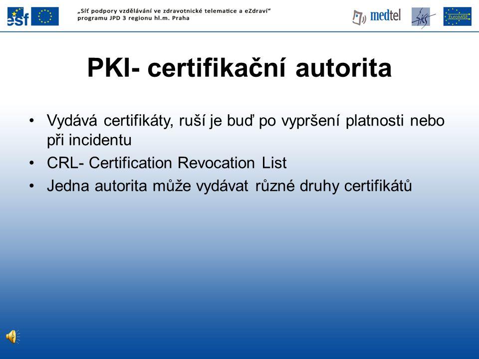 PKI- certifikační autorita