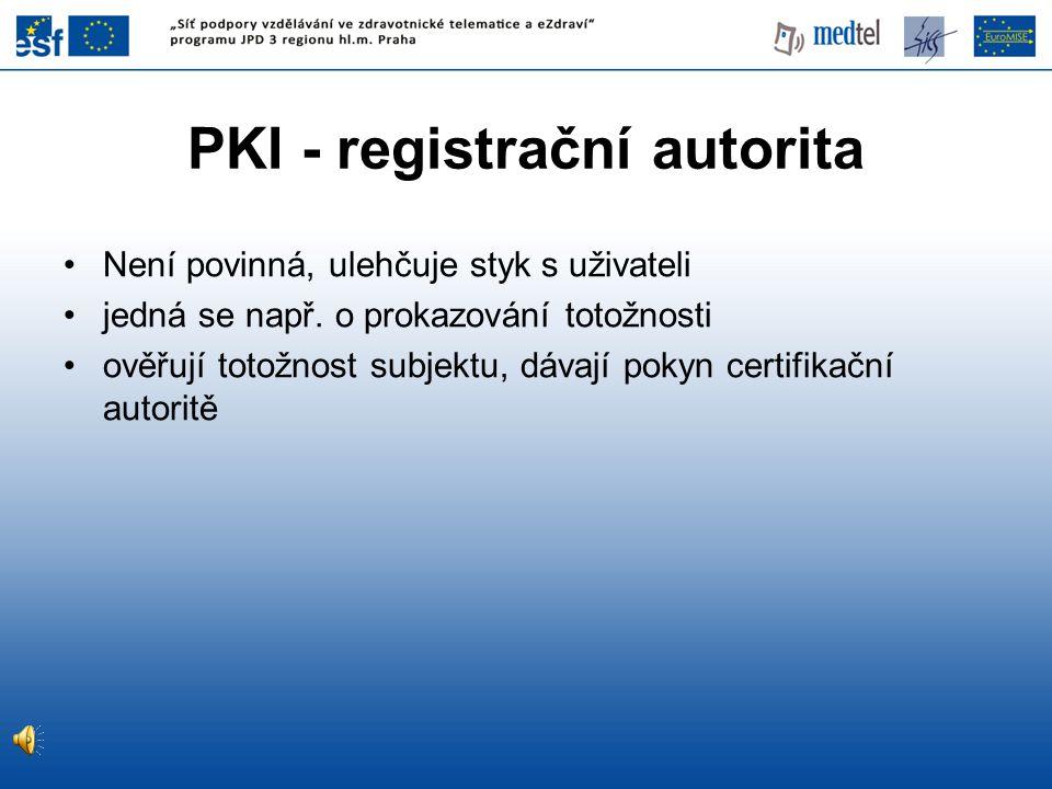 PKI - registrační autorita
