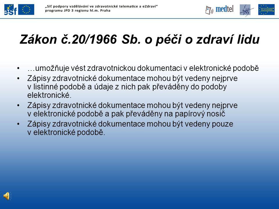 Zákon č.20/1966 Sb. o péči o zdraví lidu