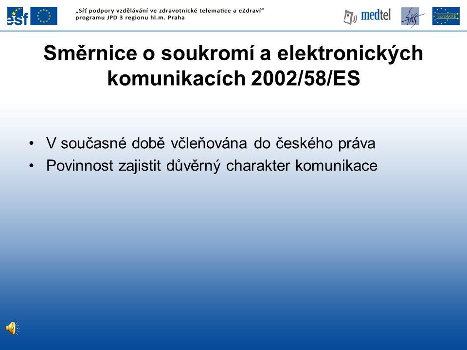 Směrnice o soukromí a elektronických komunikacích 2002/58/ES