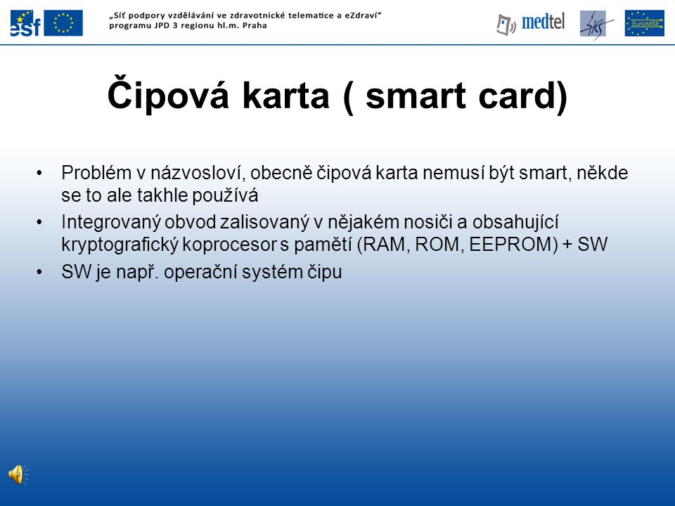 Čipová karta ( smart card)