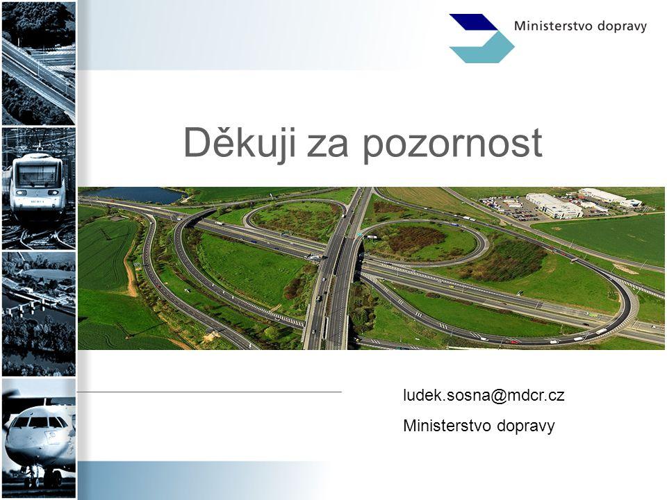 Děkuji za pozornost ludek.sosna@mdcr.cz Ministerstvo dopravy