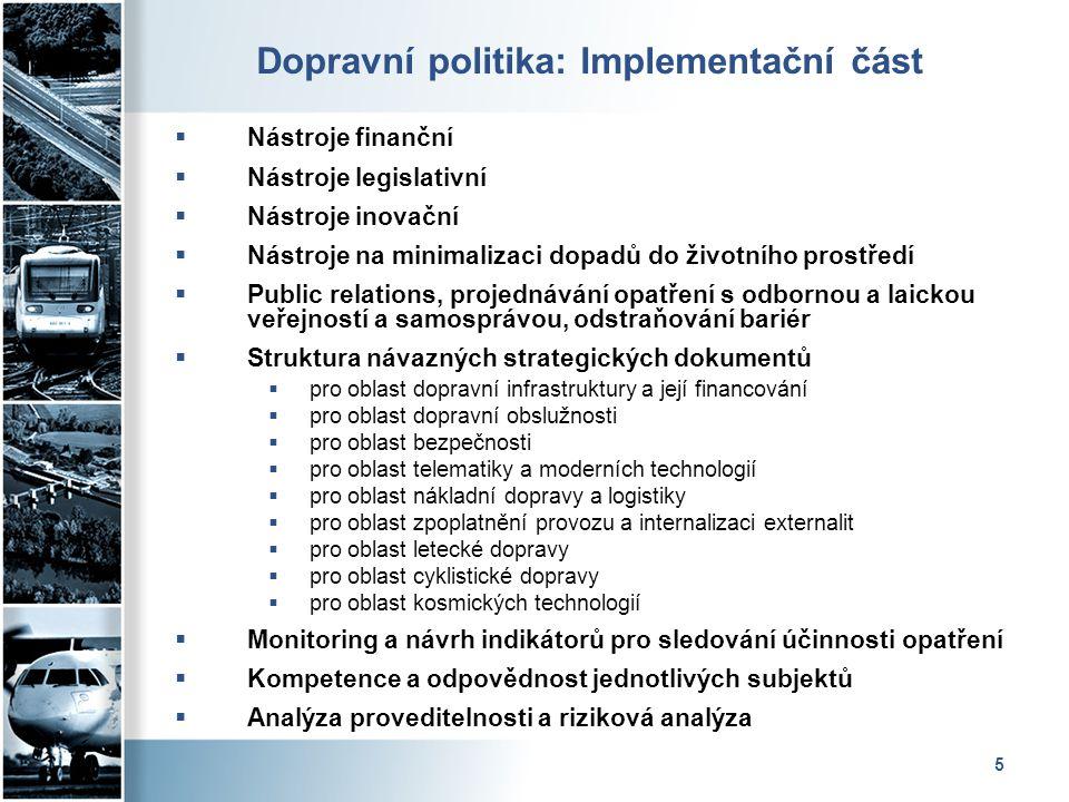 Dopravní politika: Implementační část