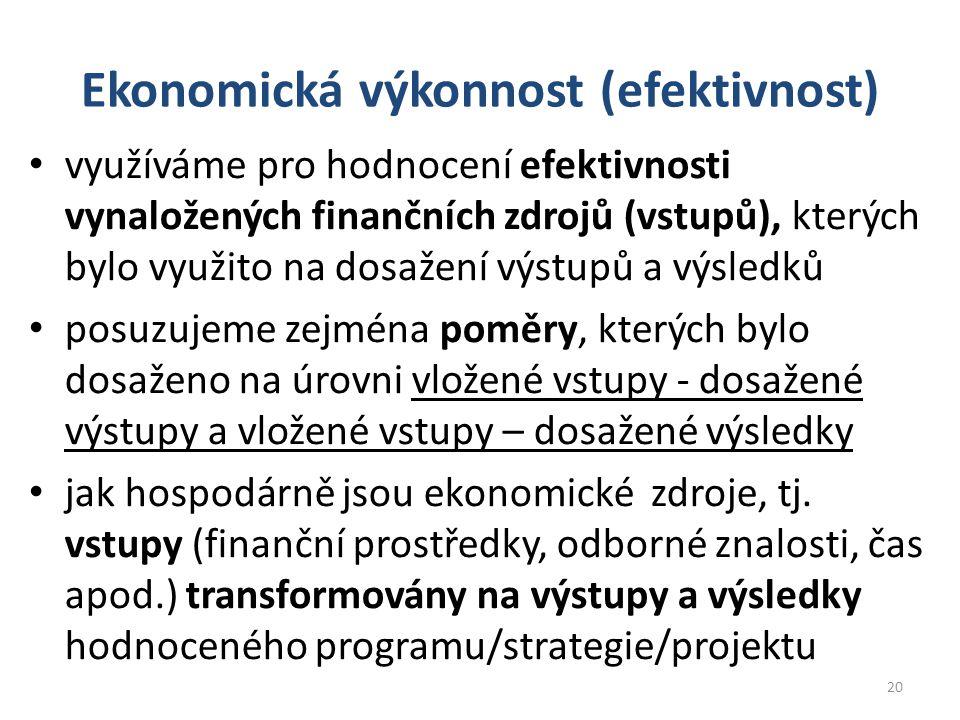 Ekonomická výkonnost (efektivnost)