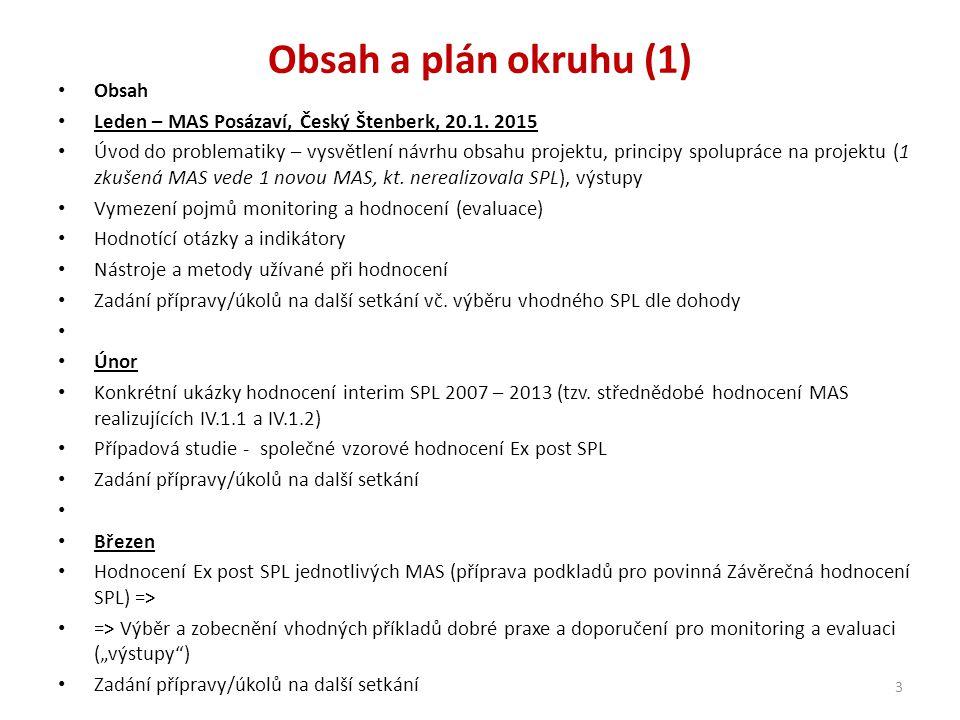 Obsah a plán okruhu (1) Obsah