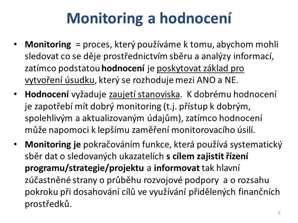Monitoring a hodnocení