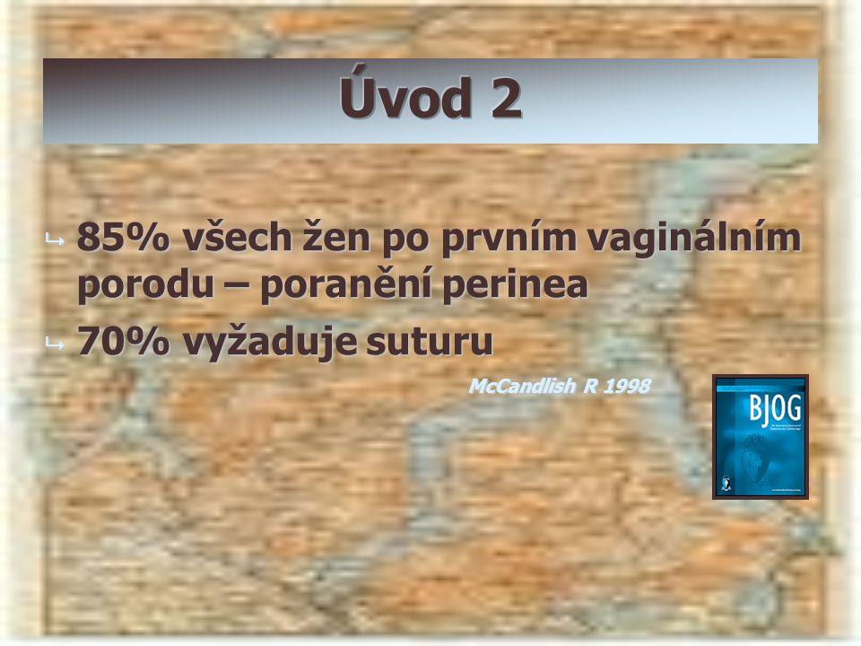 Úvod 2 85% všech žen po prvním vaginálním porodu – poranění perinea