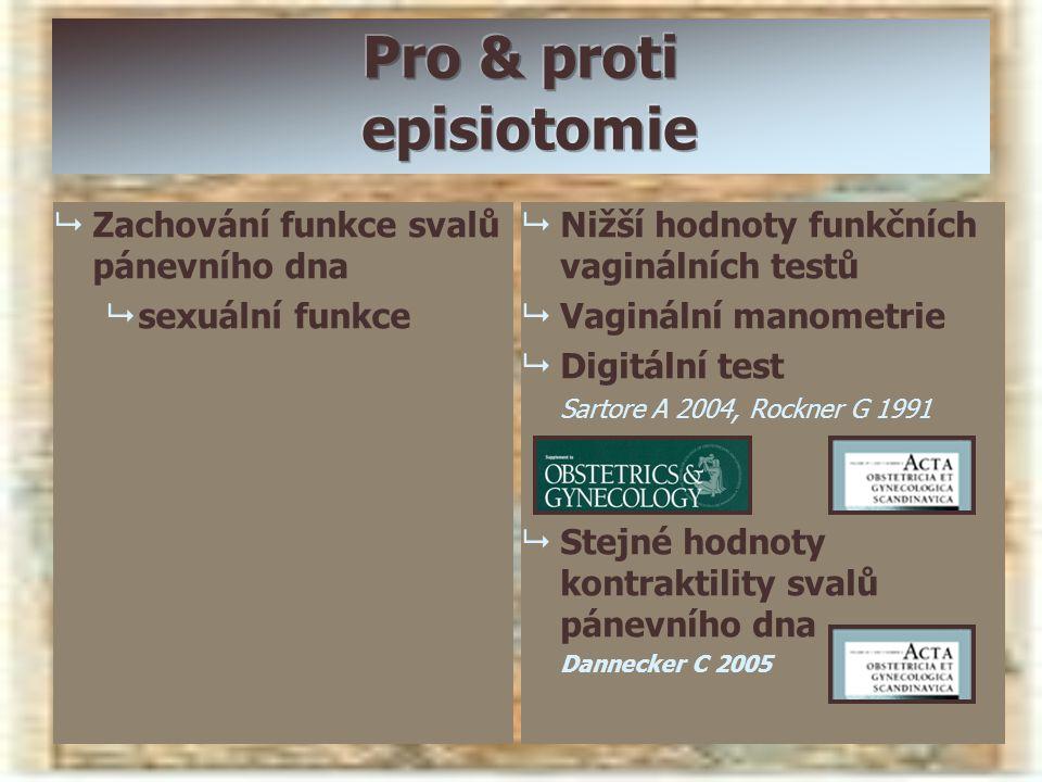 Pro & proti episiotomie