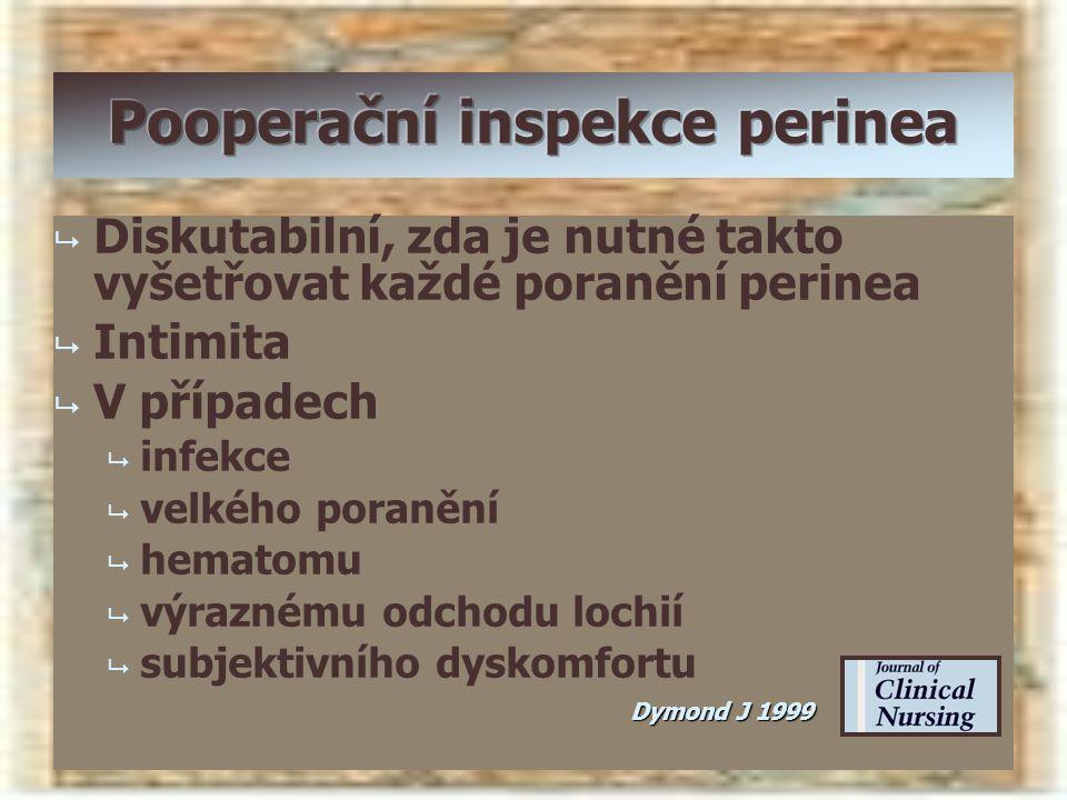Pooperační inspekce perinea