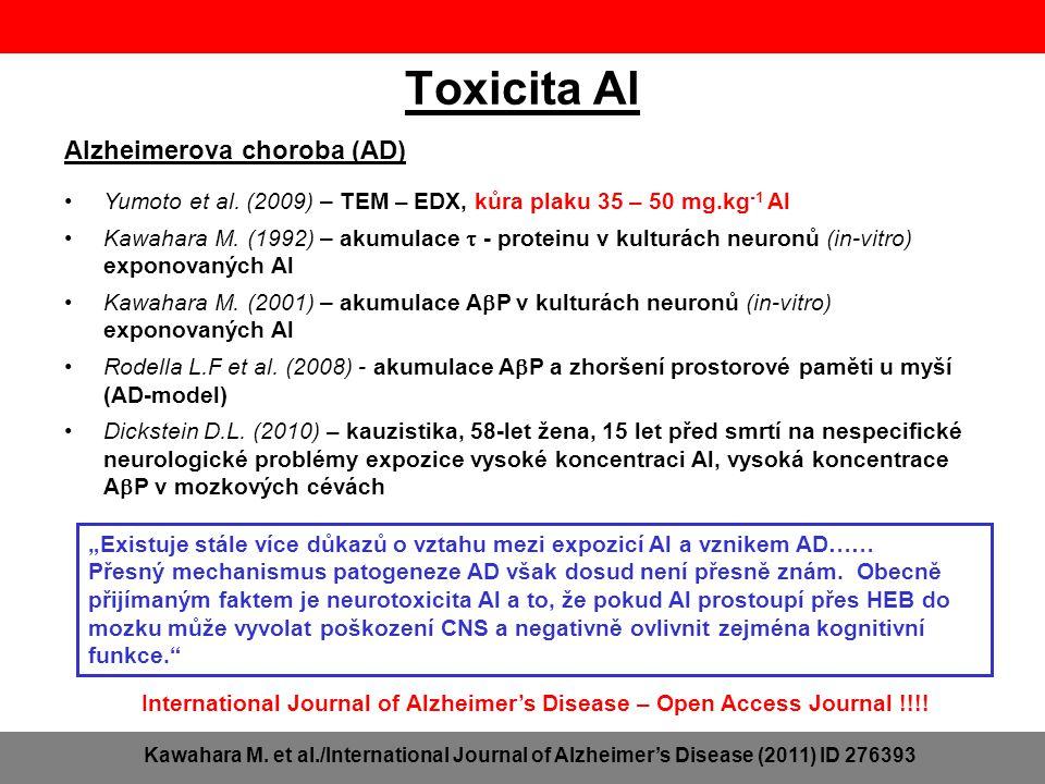 Toxicita Al Alzheimerova choroba (AD)