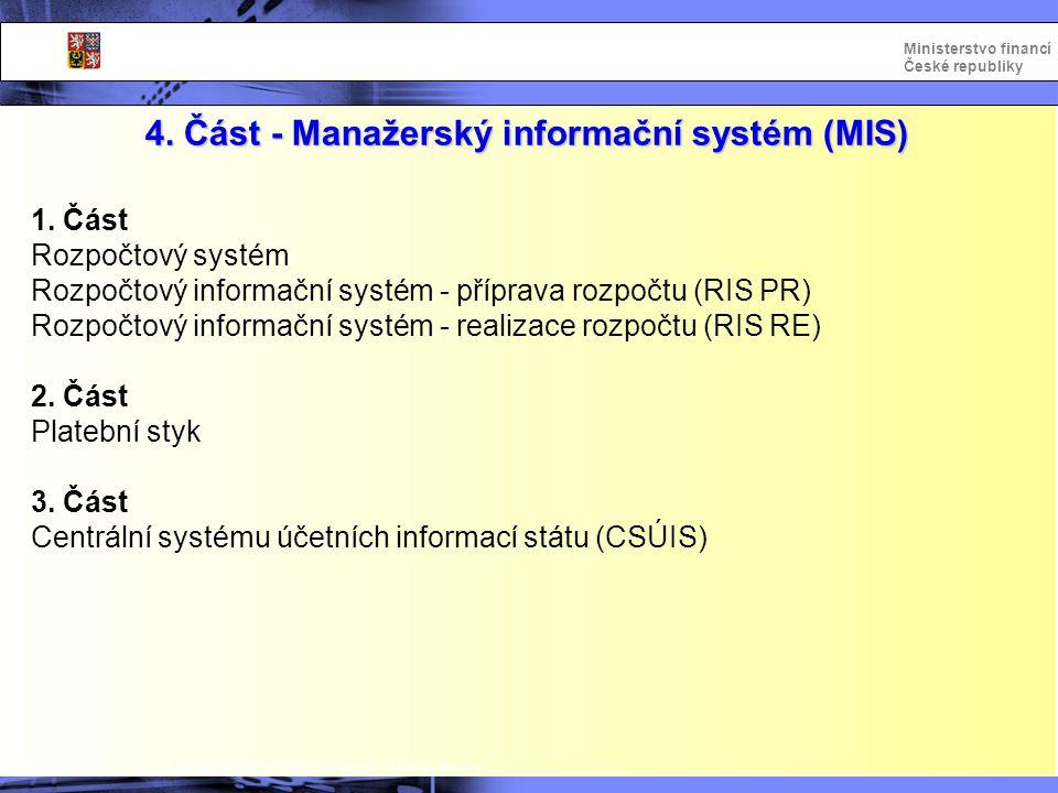 4. Část - Manažerský informační systém (MIS)