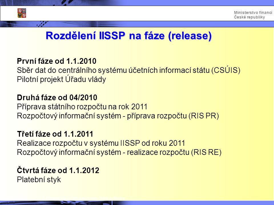 Rozdělení IISSP na fáze (release)