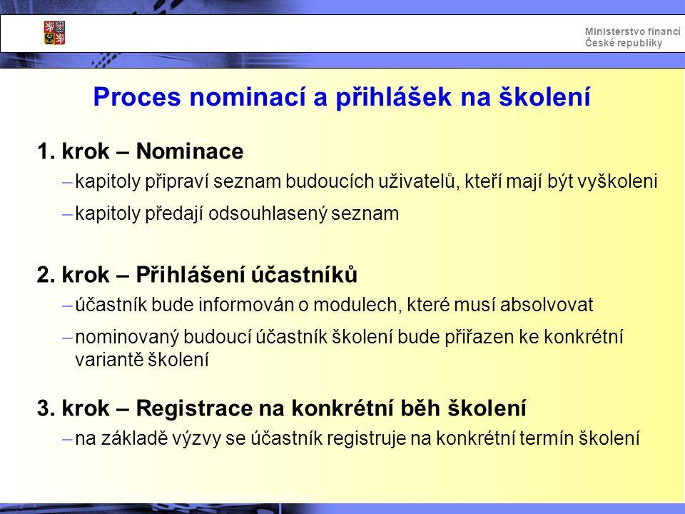 Proces nominací a přihlášek na školení