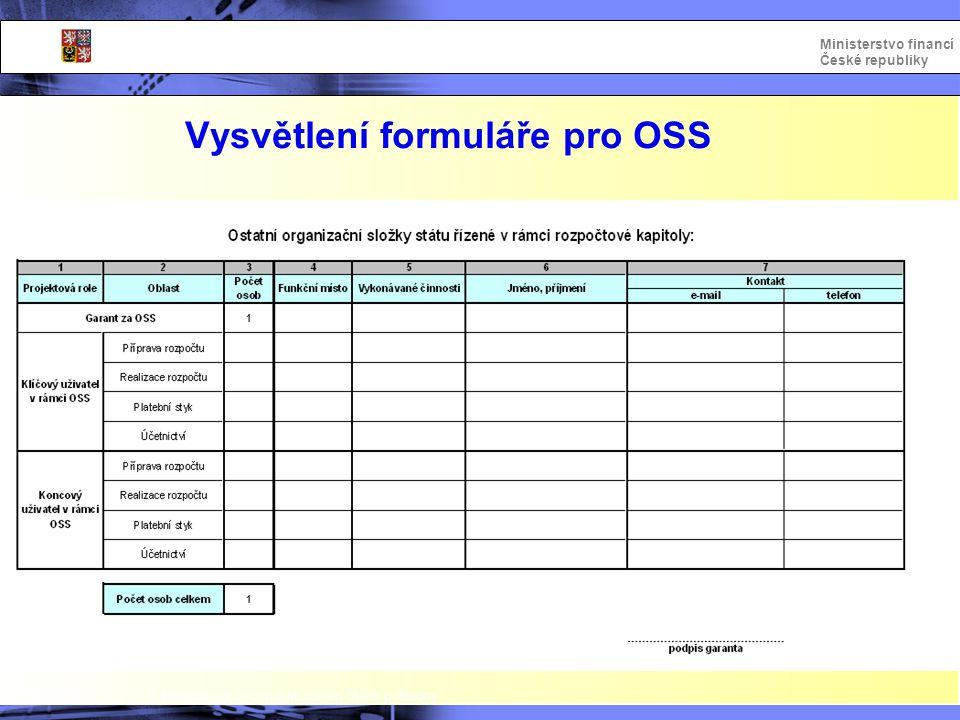 Vysvětlení formuláře pro OSS