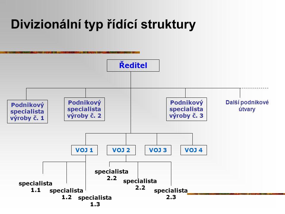 Divizionální typ řídící struktury