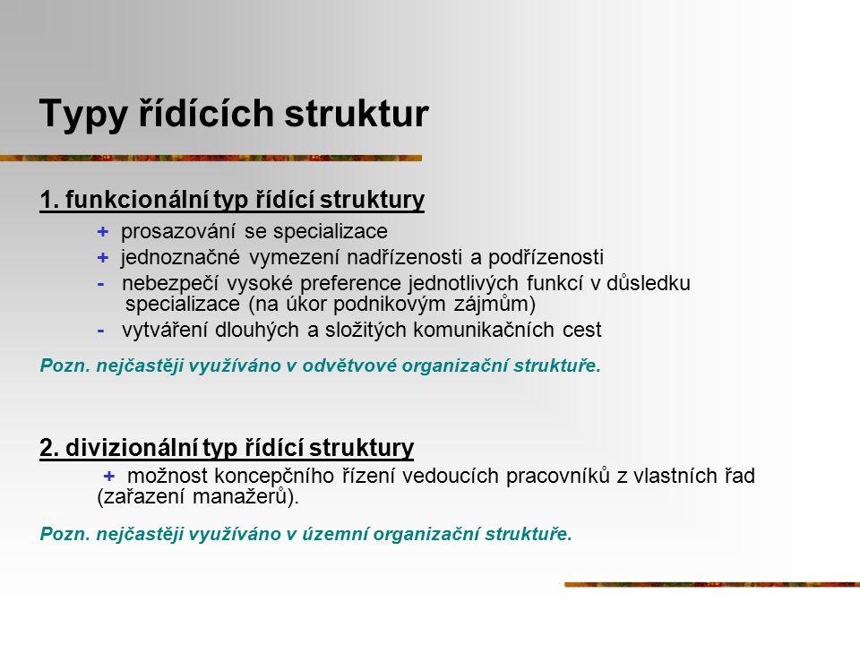Typy řídících struktur
