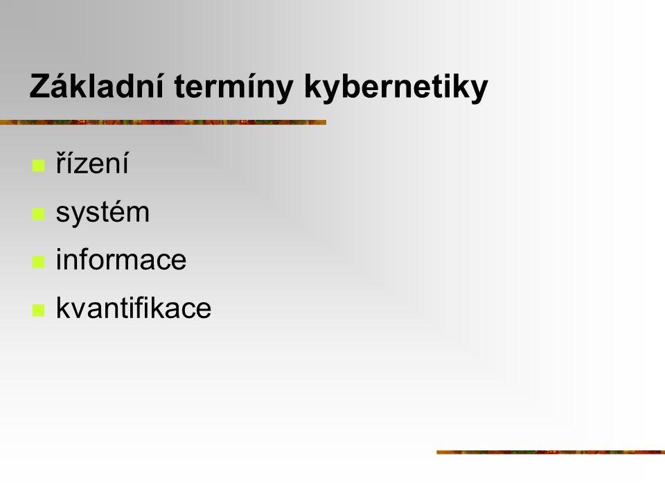 Základní termíny kybernetiky