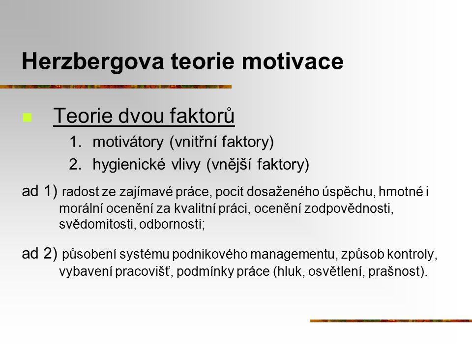 Herzbergova teorie motivace