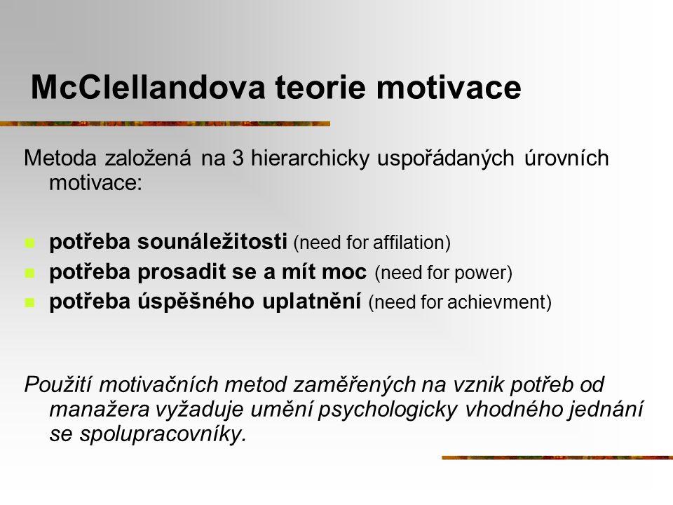 McClellandova teorie motivace