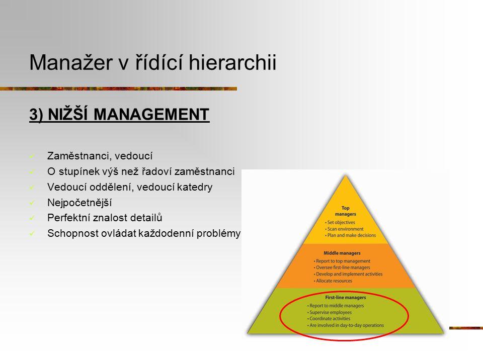 Manažer v řídící hierarchii
