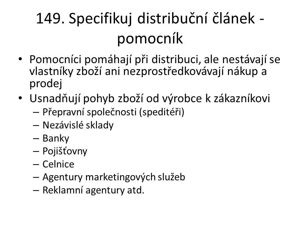 149. Specifikuj distribuční článek - pomocník