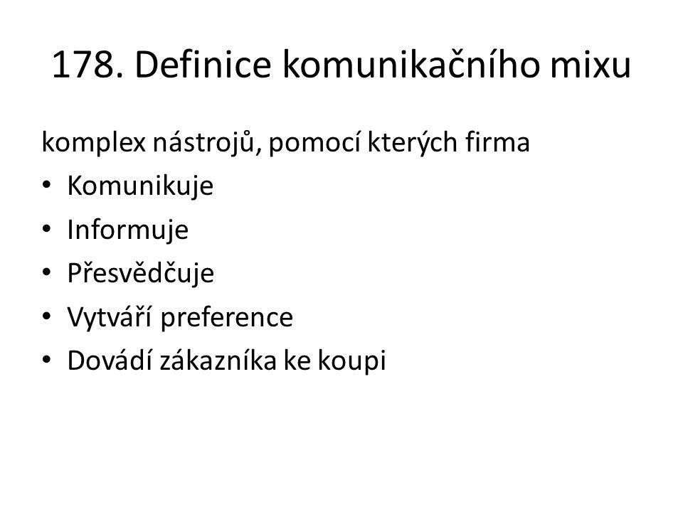 178. Definice komunikačního mixu
