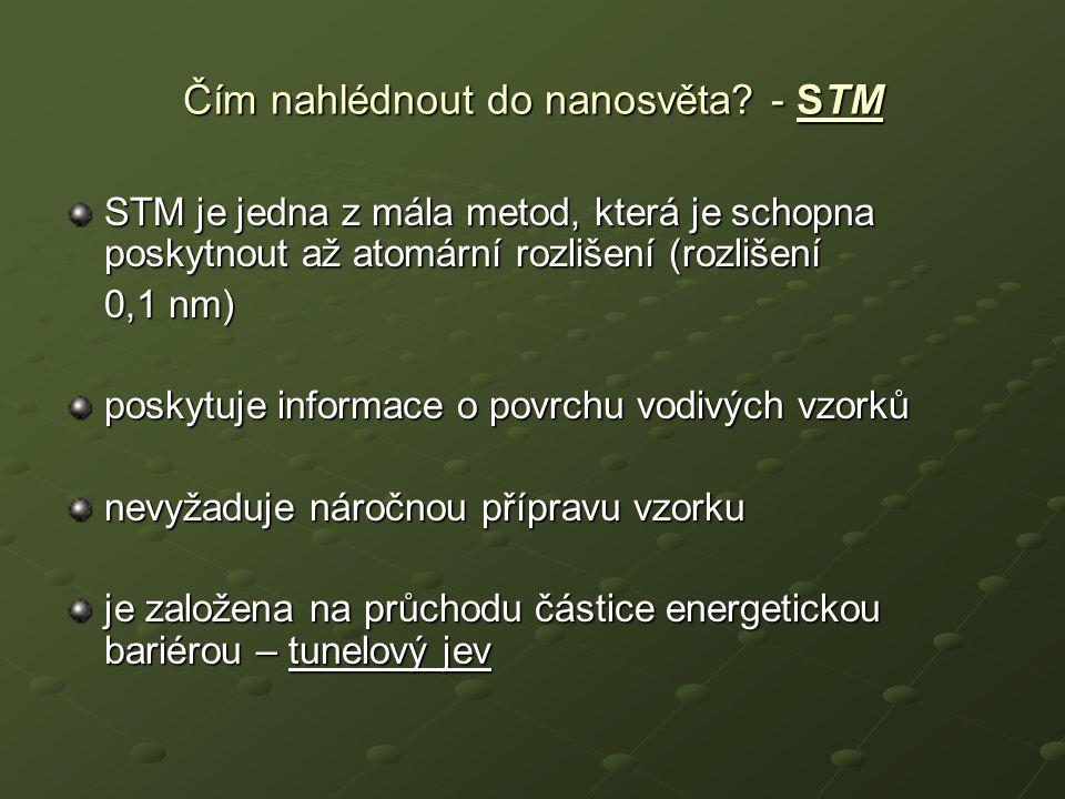 Čím nahlédnout do nanosvěta - STM