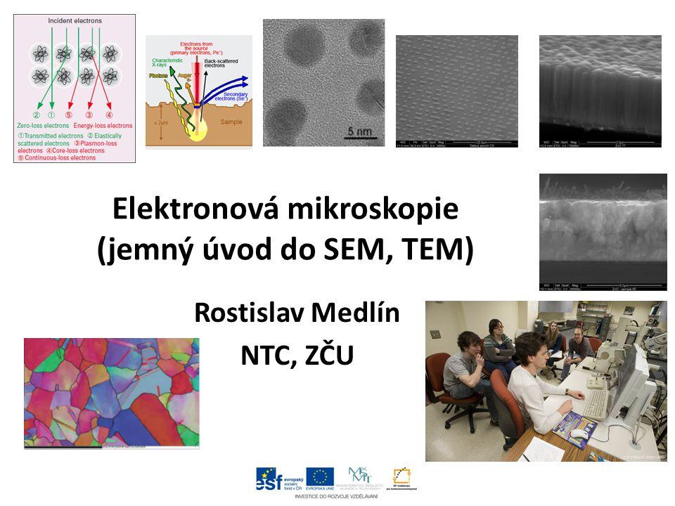 Elektronová mikroskopie (jemný úvod do SEM, TEM)