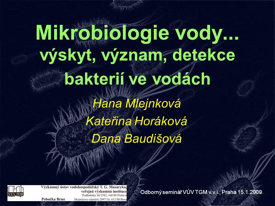 Mikrobiologie vody... výskyt, význam, detekce bakterií ve vodách