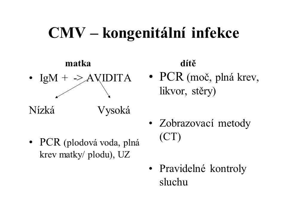 CMV – kongenitální infekce