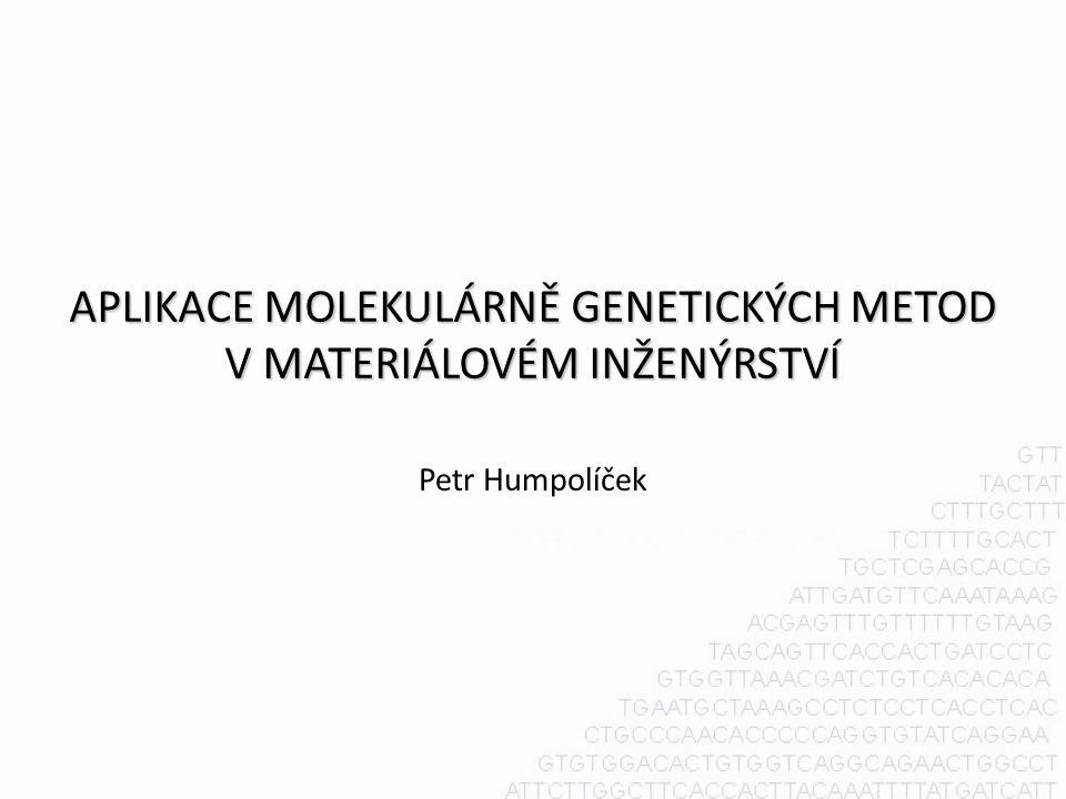 APLIKACE MOLEKULÁRNĚ GENETICKÝCH METOD V MATERIÁLOVÉM INŽENÝRSTVÍ