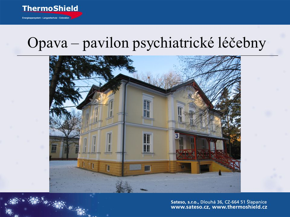 Opava – pavilon psychiatrické léčebny