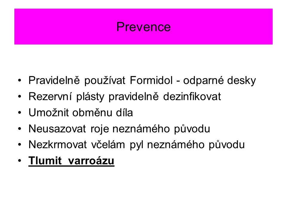 Prevence Pravidelně používat Formidol - odparné desky