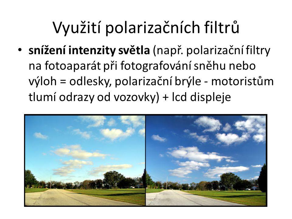 Využití polarizačních filtrů