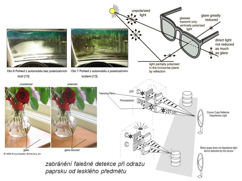 zabránění falešné detekce při odrazu paprsku od lesklého předmětu