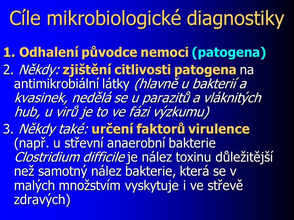 Cíle mikrobiologické diagnostiky