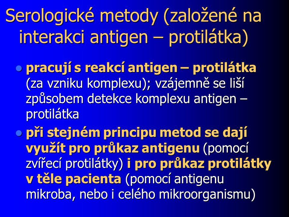 Serologické metody (založené na interakci antigen – protilátka)
