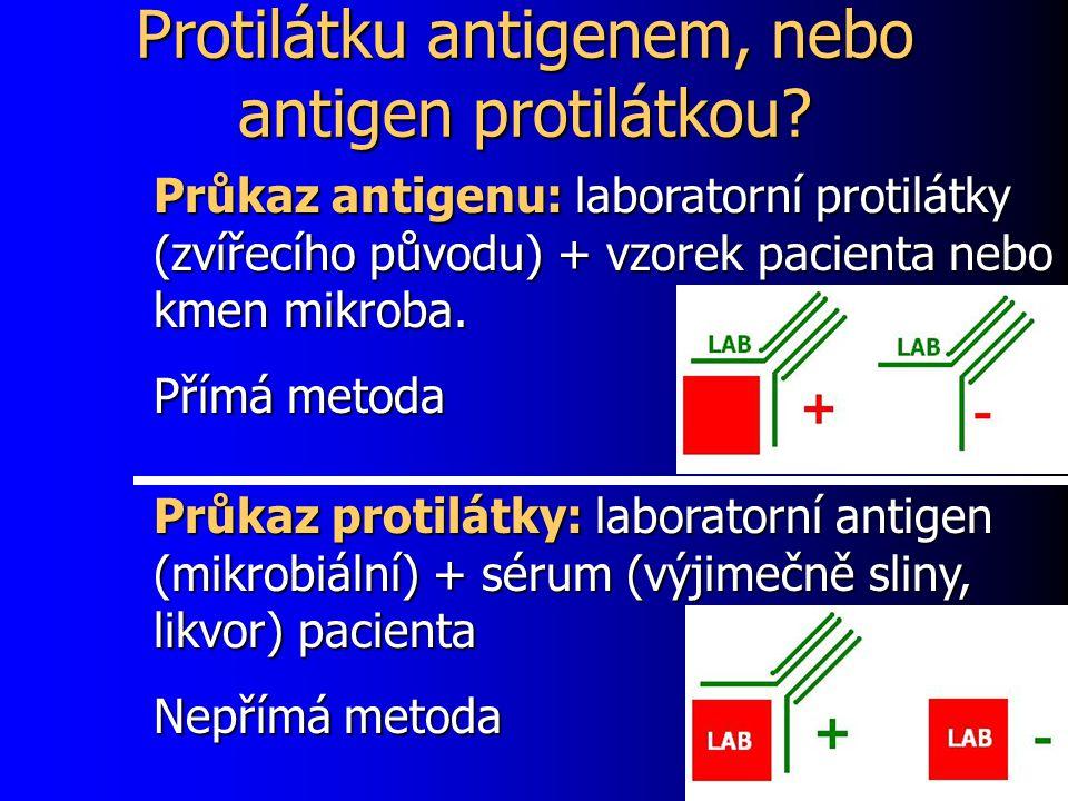 Protilátku antigenem, nebo antigen protilátkou