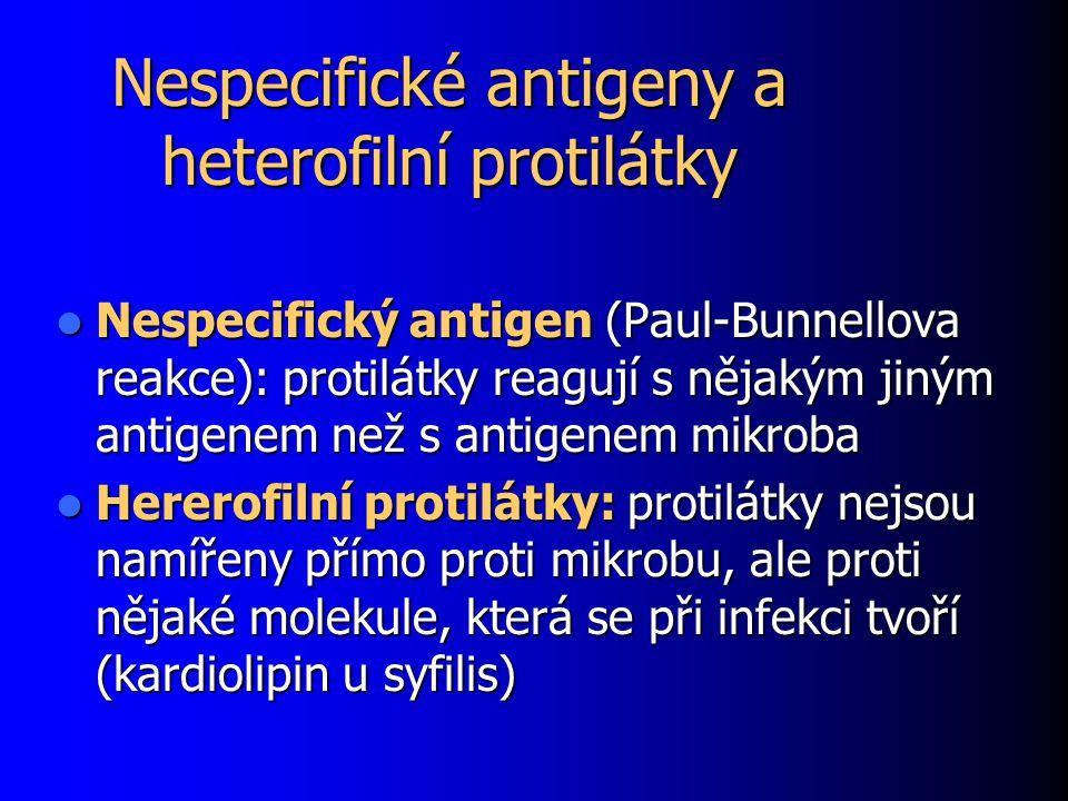 Nespecifické antigeny a heterofilní protilátky