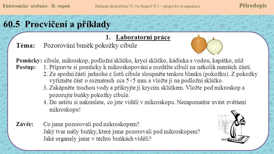60.5 Procvičení a příklady Laboratorní práce