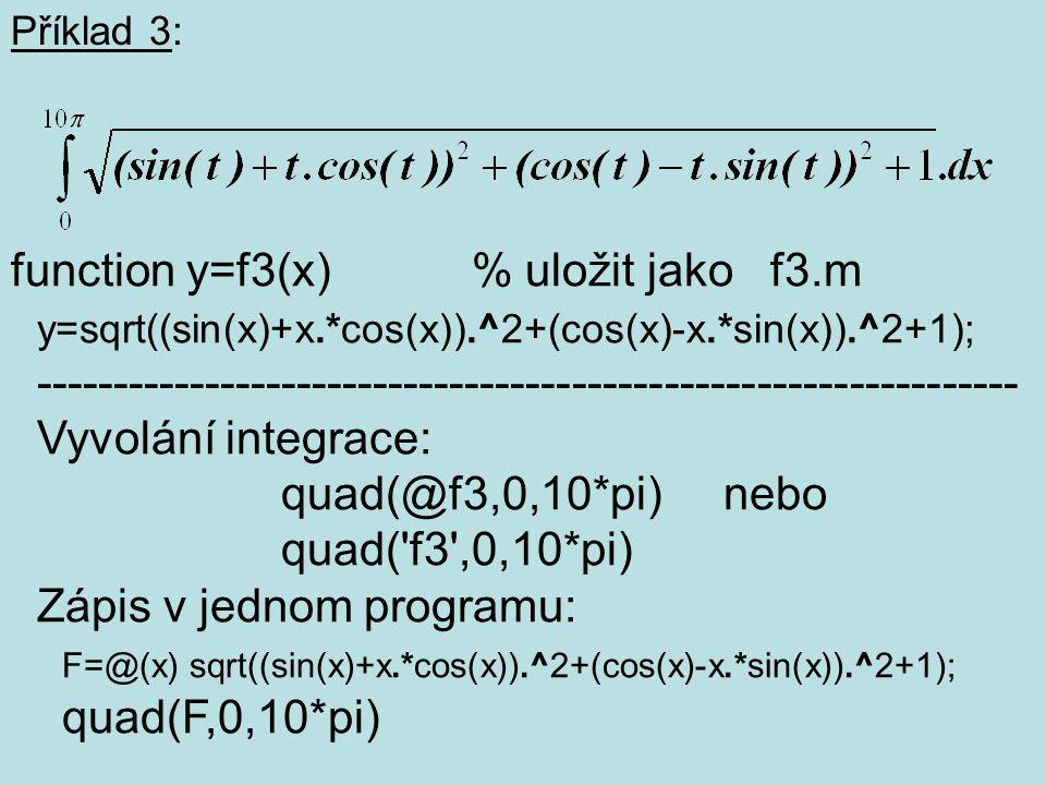function y=f3(x) % uložit jako f3.m