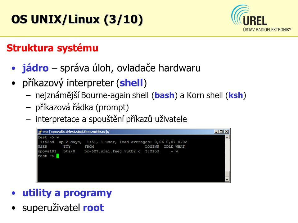 OS UNIX/Linux (3/10) Struktura systému