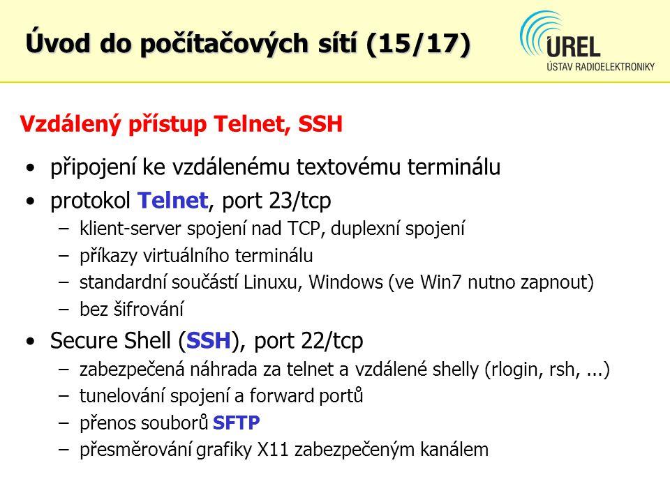 Vzdálený přístup Telnet, SSH