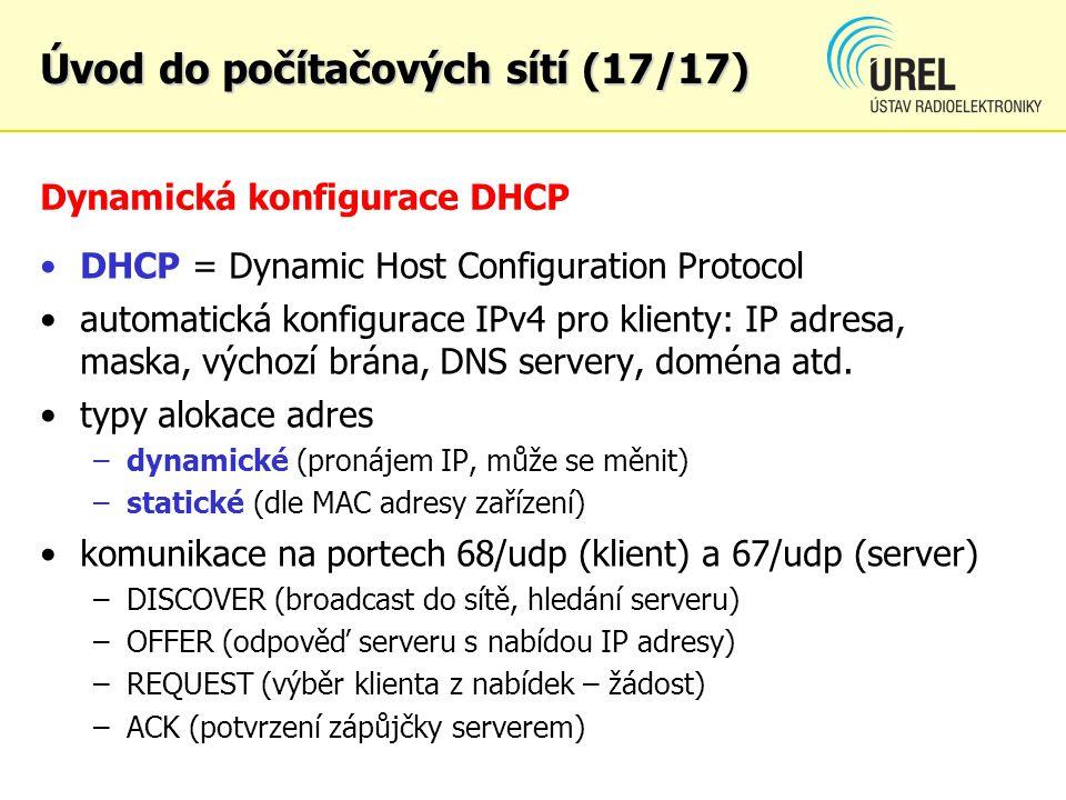 Dynamická konfigurace DHCP