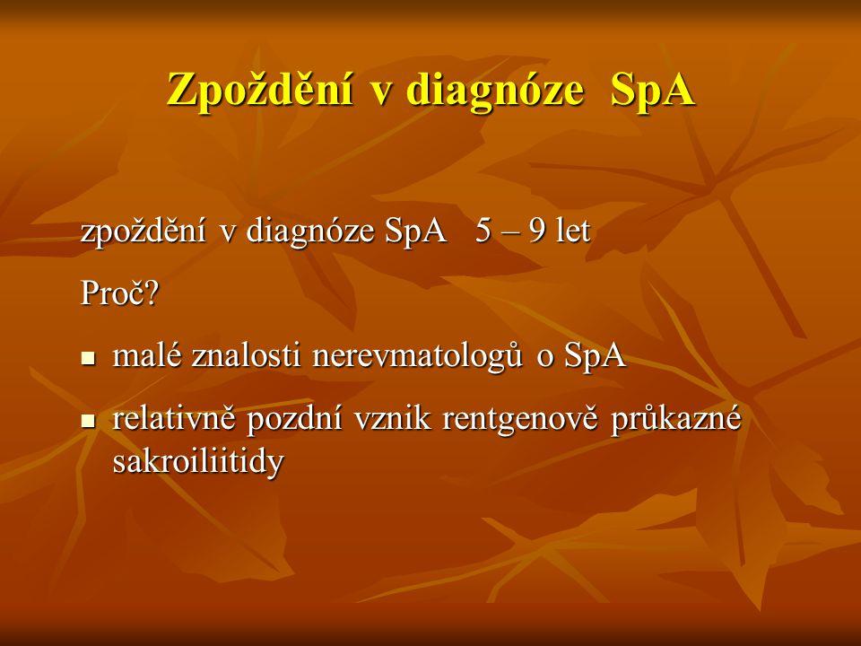 Zpoždění v diagnóze SpA