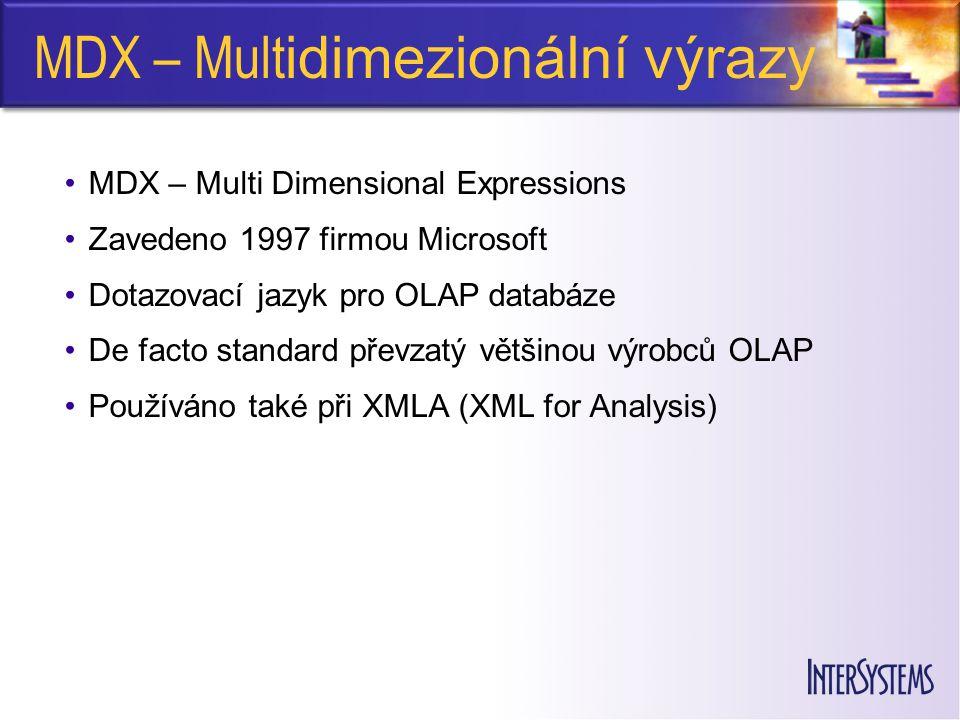MDX – Multidimezionální výrazy