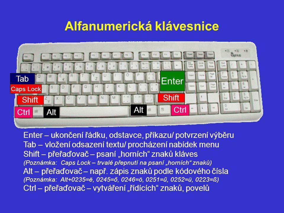 Alfanumerická klávesnice