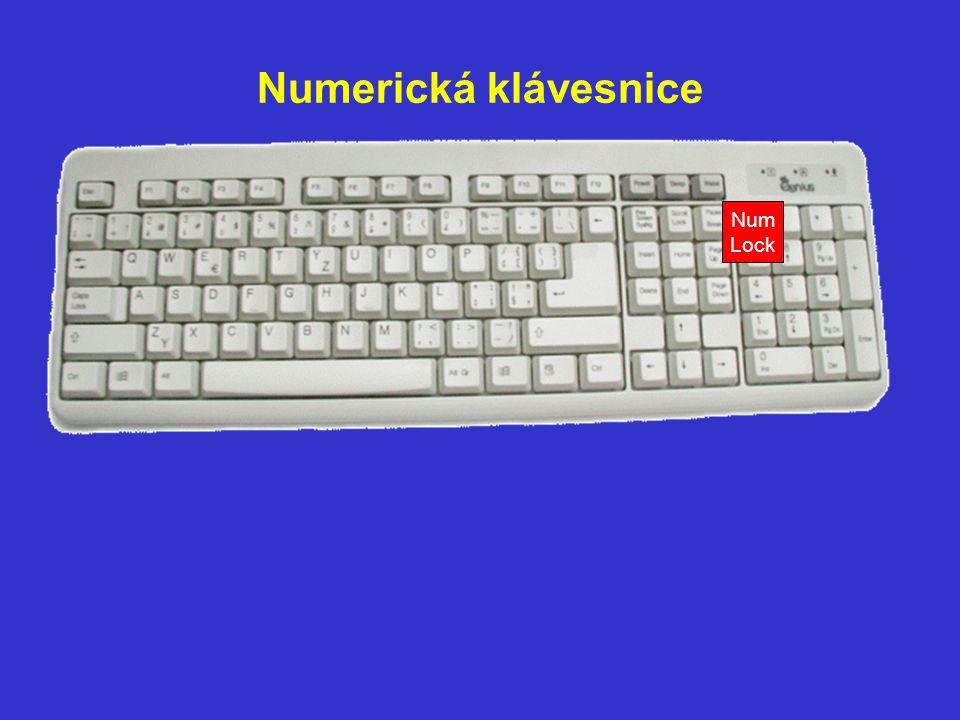 Numerická klávesnice Num Lock