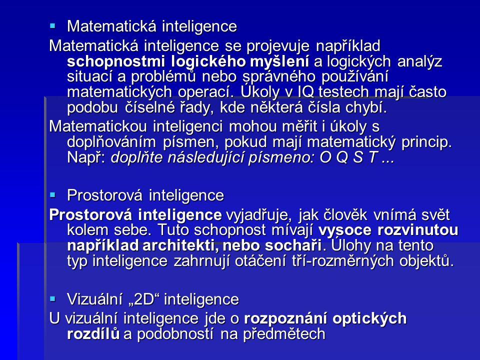 Matematická inteligence